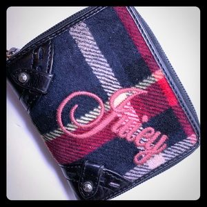 Juicy Couture Black Red Plaid Wallet Mad Money